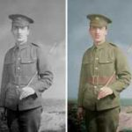 photo restoration colourised black and white 200 x 171
