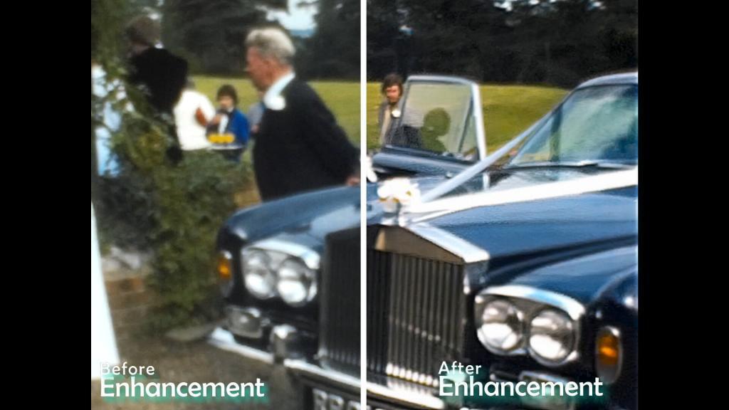 cinefilm example of a man opening door of wedding car